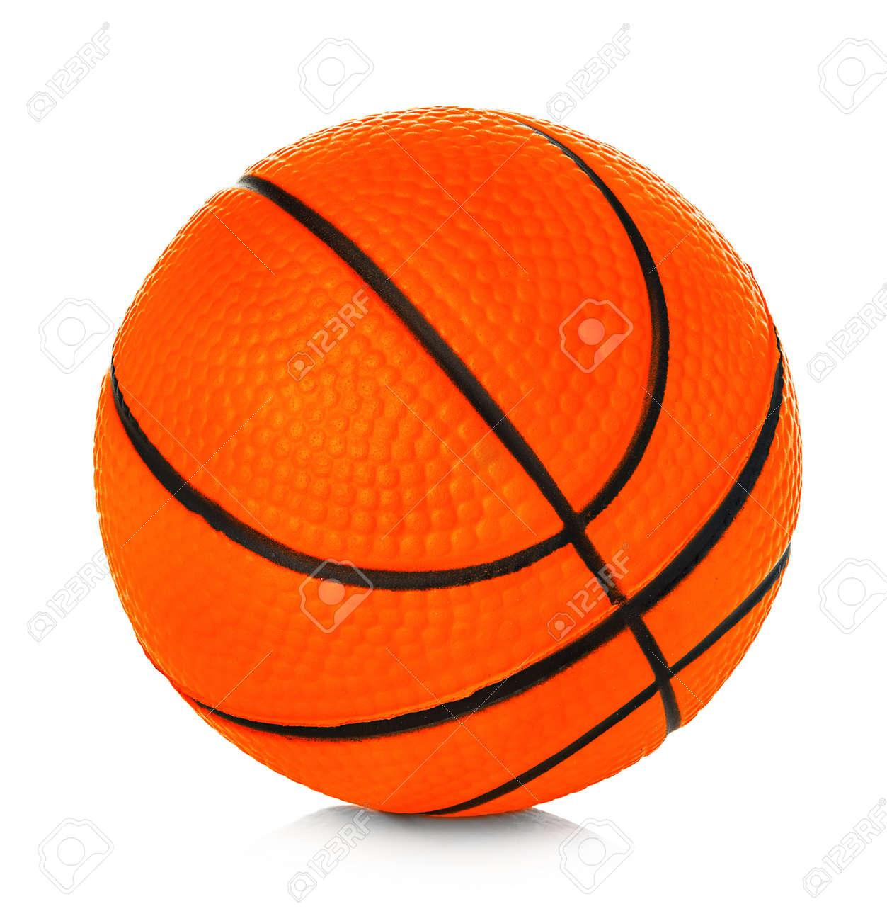 Orange basket ball close-up isolated on a white background. - 126197362