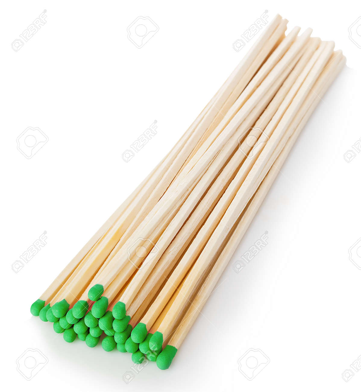 Matches close-up isolated on a white background. - 126197604