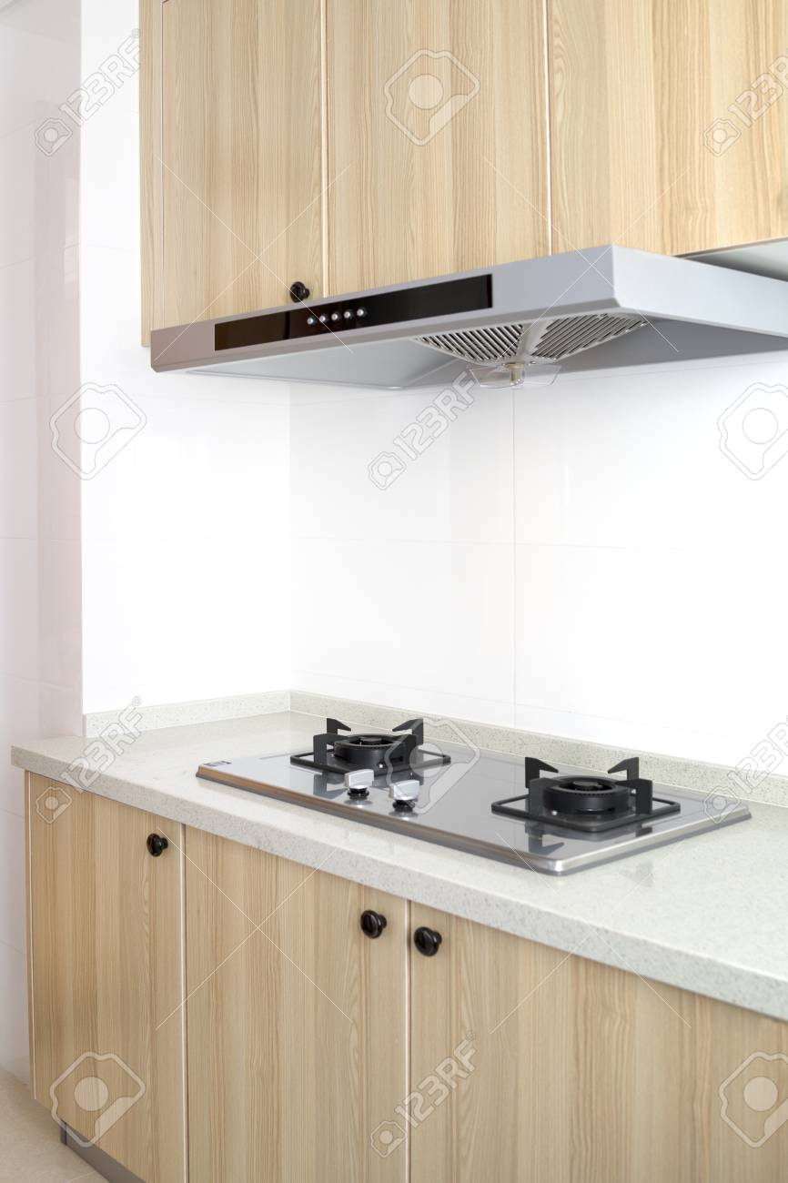 Cooking Gas Stove With Hood In Modern Kitchen Pantry Top And Stock Photo Picture And Royalty Free Image Image 122272759