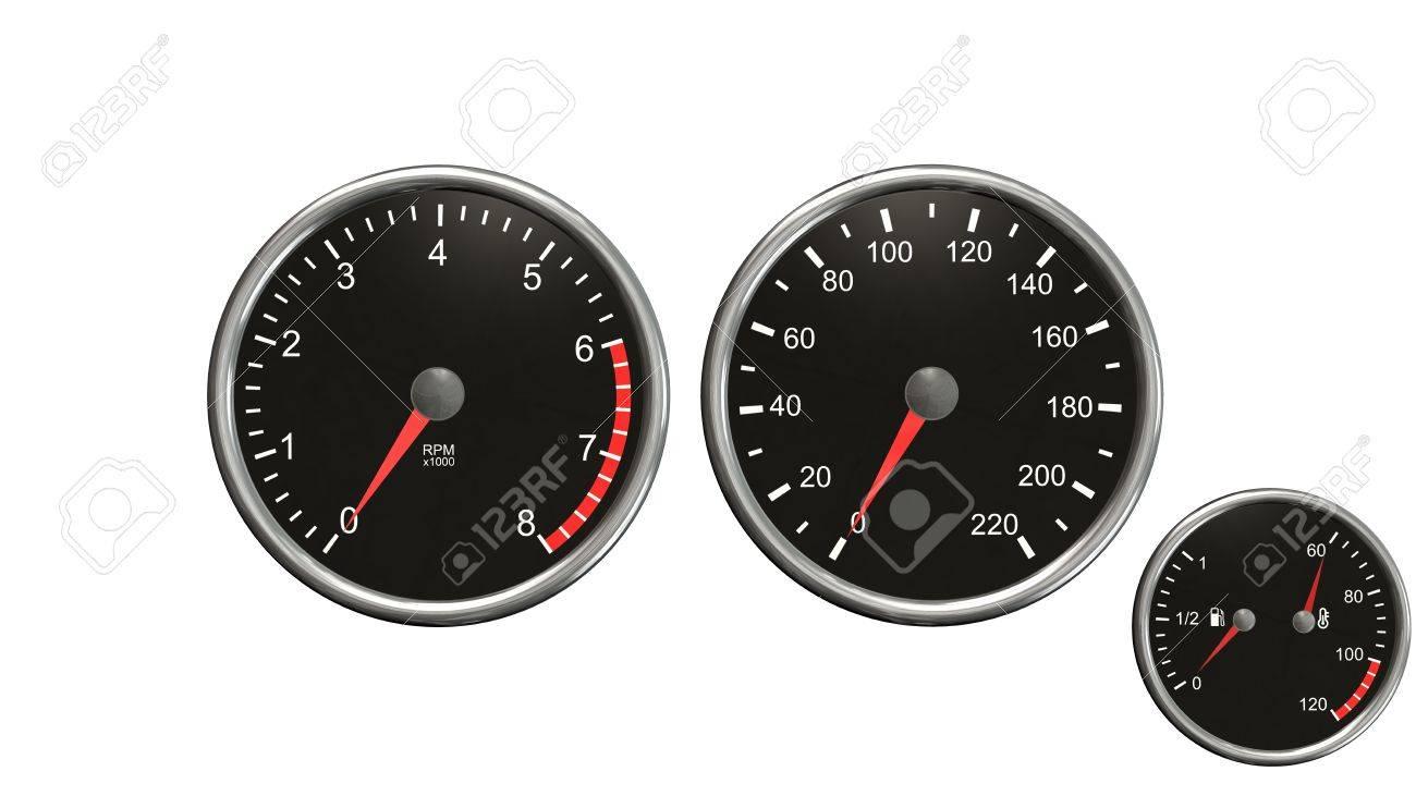 Tacómetro, Velocímetro, Combustible Y Temperatura. Indicadores ...