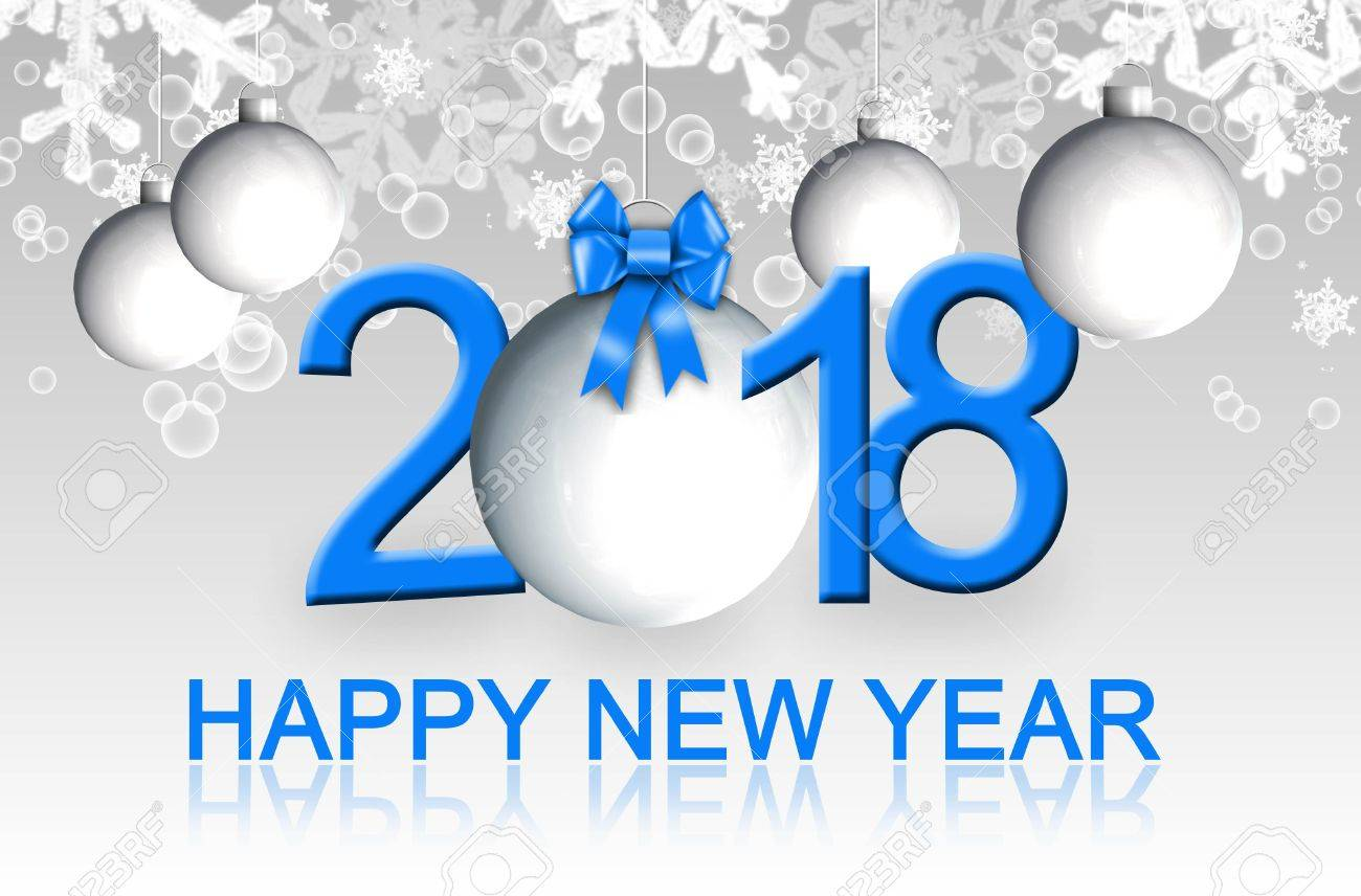 happy new year 2018 greeting card stock photo 85114034