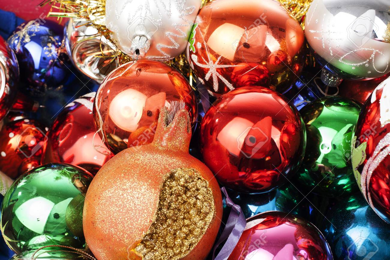 Christmas Bauble Ball Texture Real Glass Ball Christmas Baubles