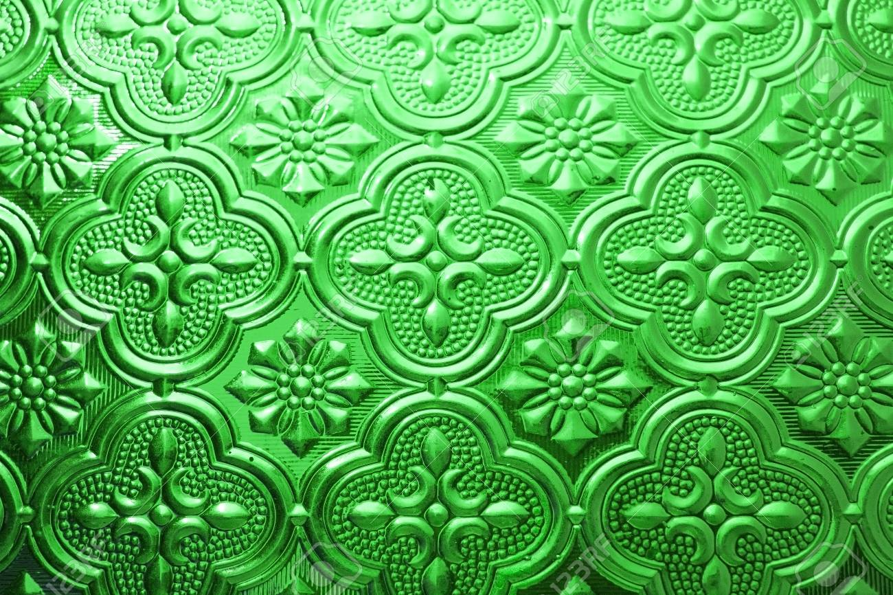 Colorful Green Seamless Texture Glass Background Interior Wall
