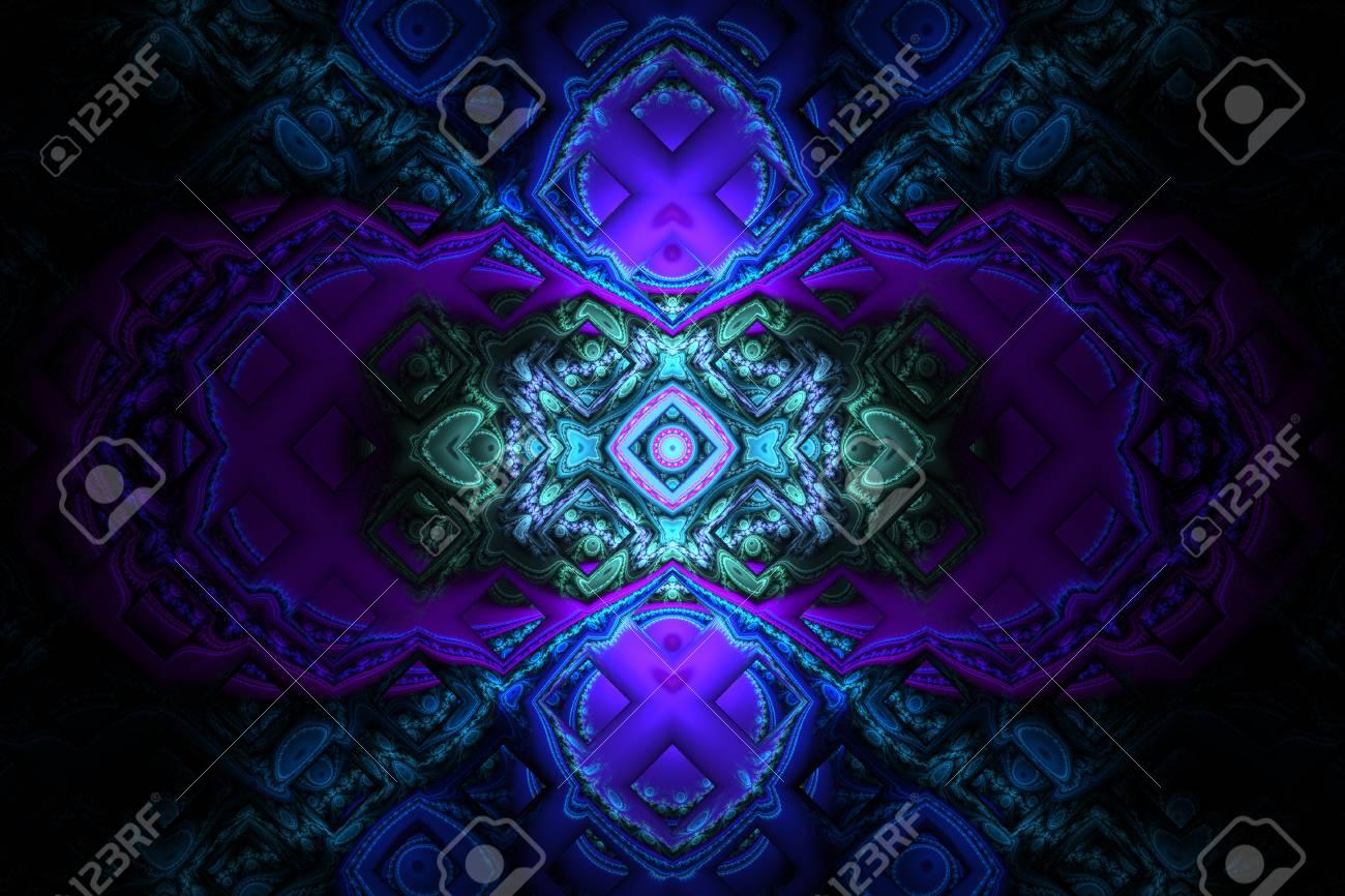 119309436 fraktal fractal wallpaper black and colorful geometric shapes illustrate space universe magic freque