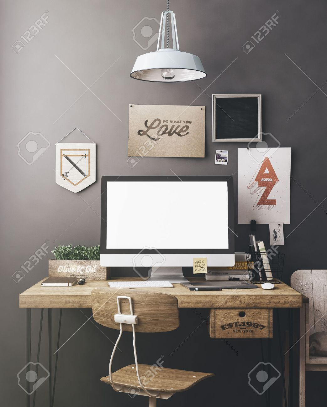 Peachy Workspace Desk Stock Photos Pictures Royalty Free Workspace Largest Home Design Picture Inspirations Pitcheantrous