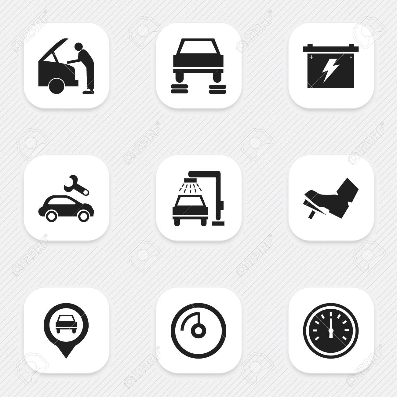 Set of 9 editable car icons includes symbols such as treadle set of 9 editable car icons includes symbols such as treadle car fixing biocorpaavc Gallery