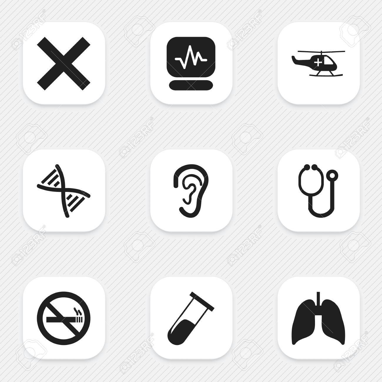 Set Of 9 Editable Care Icons Includes Symbols Such As Doctor