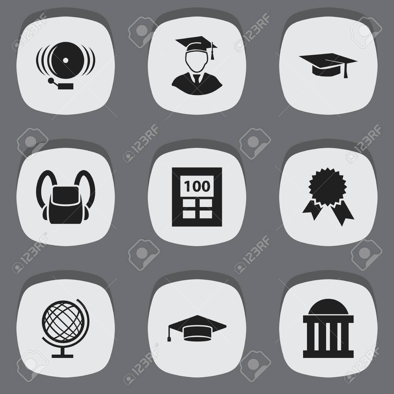 Nouveaux produits 0eb69 6bcba Ensemble de 9 icônes universitaires modifiables. Comprend des symboles tels  que Cartable, Diplômé, Planète Terre et plus encore. Peut être ...