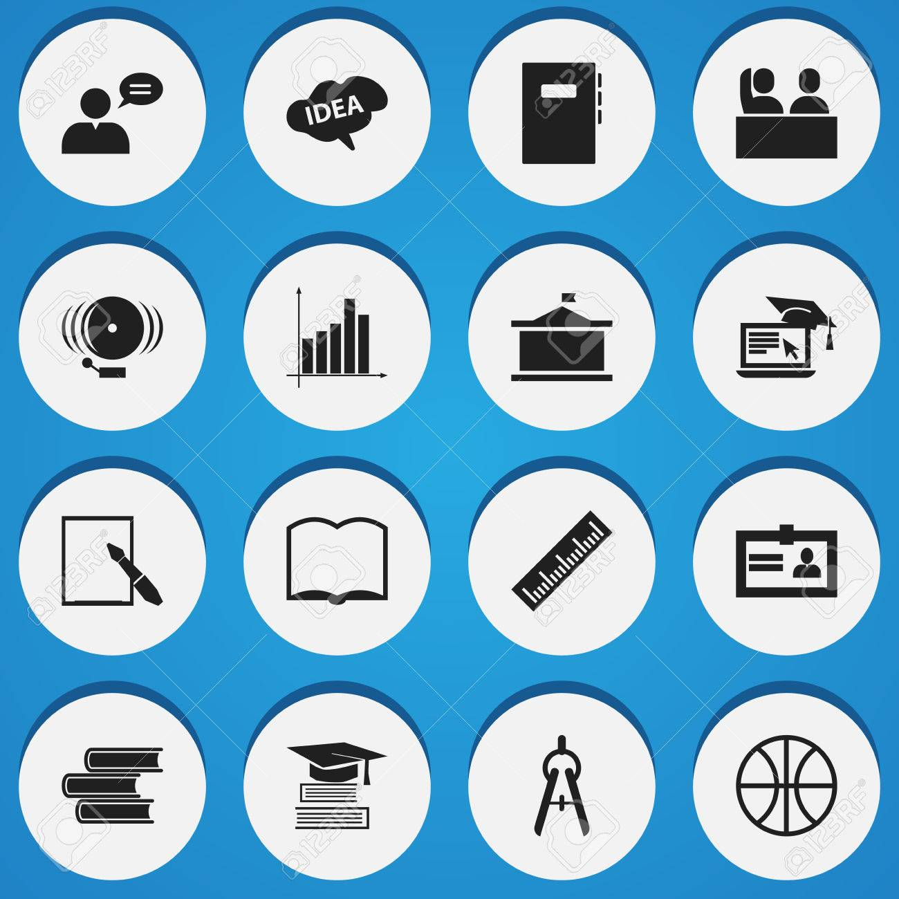 Set of 16 editable graduation icons includes symbols such as includes symbols such as certification library book 1betcityfo Image collections
