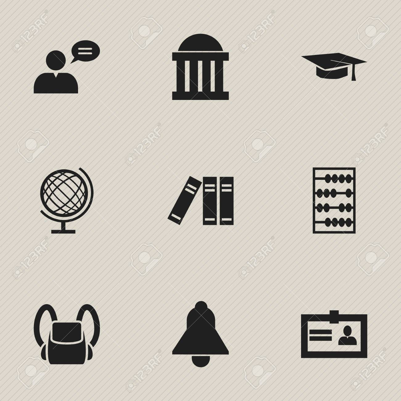Set Of 9 Editable University Icons Includes Symbols Such As