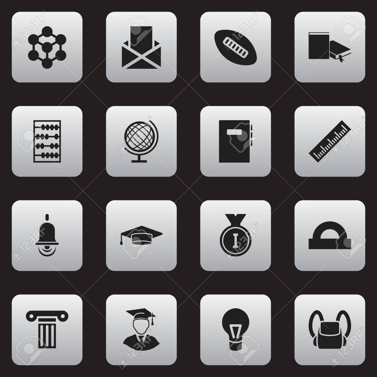 bas prix 3701f 70988 Ensemble de 16 icônes de l'éducation modifiables. Comprend des symboles  tels que classeur, cartable, planète Terre, etc. Peut être utilisé pour  Web, ...