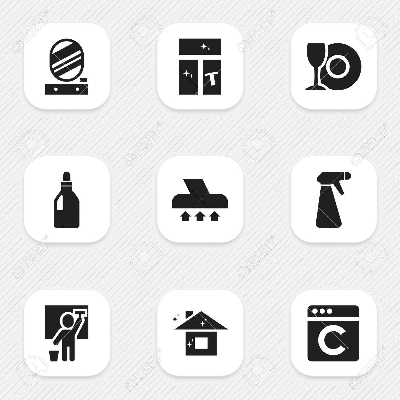 Set of 9 editable dry cleaning icons includes symbols such as set of 9 editable dry cleaning icons includes symbols such as laundry detergent buycottarizona Choice Image