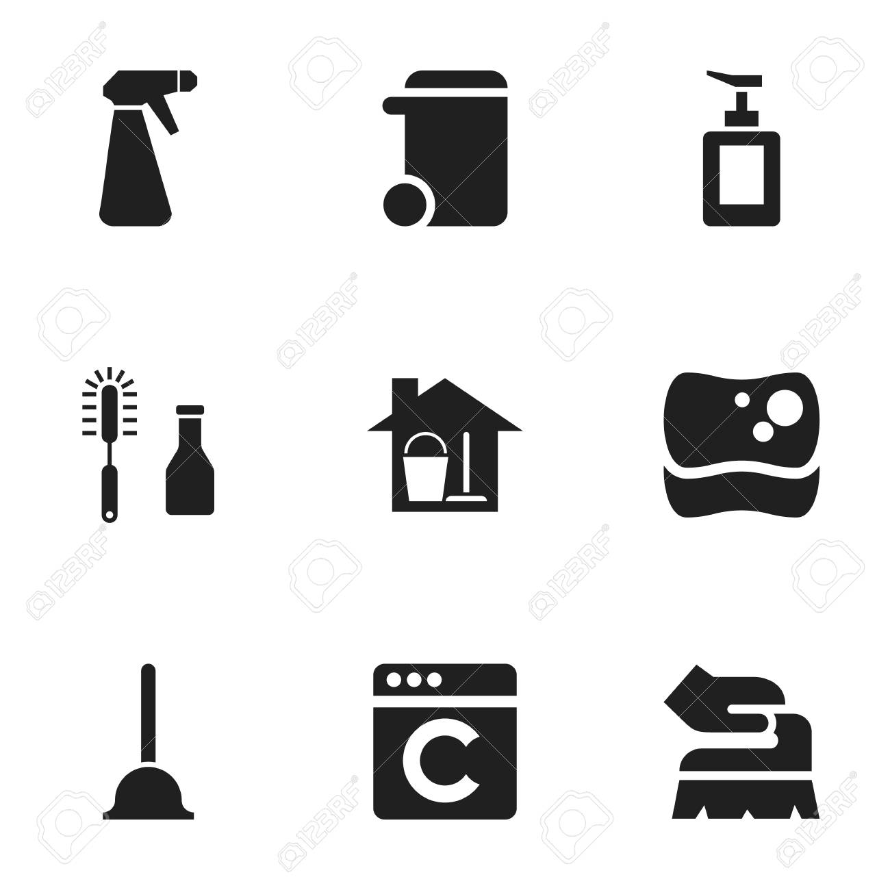 Set of 9 editable dry cleaning icons includes symbols such as set of 9 editable dry cleaning icons includes symbols such as scrub washing buycottarizona Choice Image