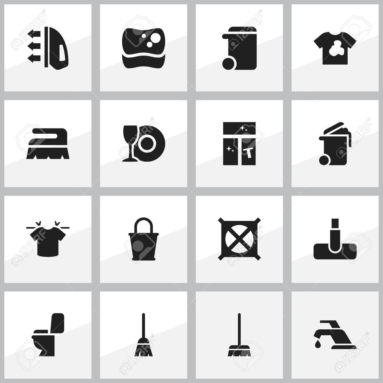 Set of 16 editable dry cleaning icons includes symbols such set of 16 editable dry cleaning icons includes symbols such as plate whisk buycottarizona Choice Image