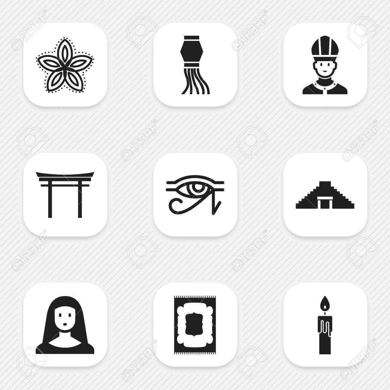 Set of 9 editable faith icons includes symbols such as egypt god set of 9 editable faith icons includes symbols such as egypt god christian biocorpaavc Gallery