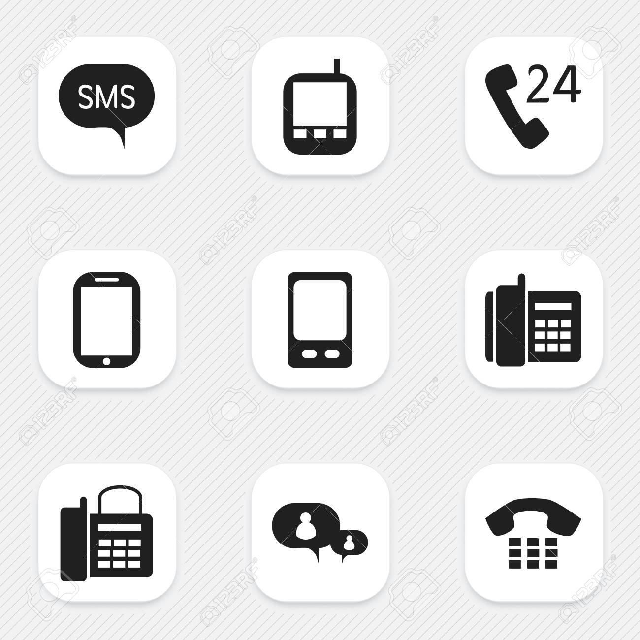 Set Of 9 Editable Device Icons Includes Symbols Such As Mobile