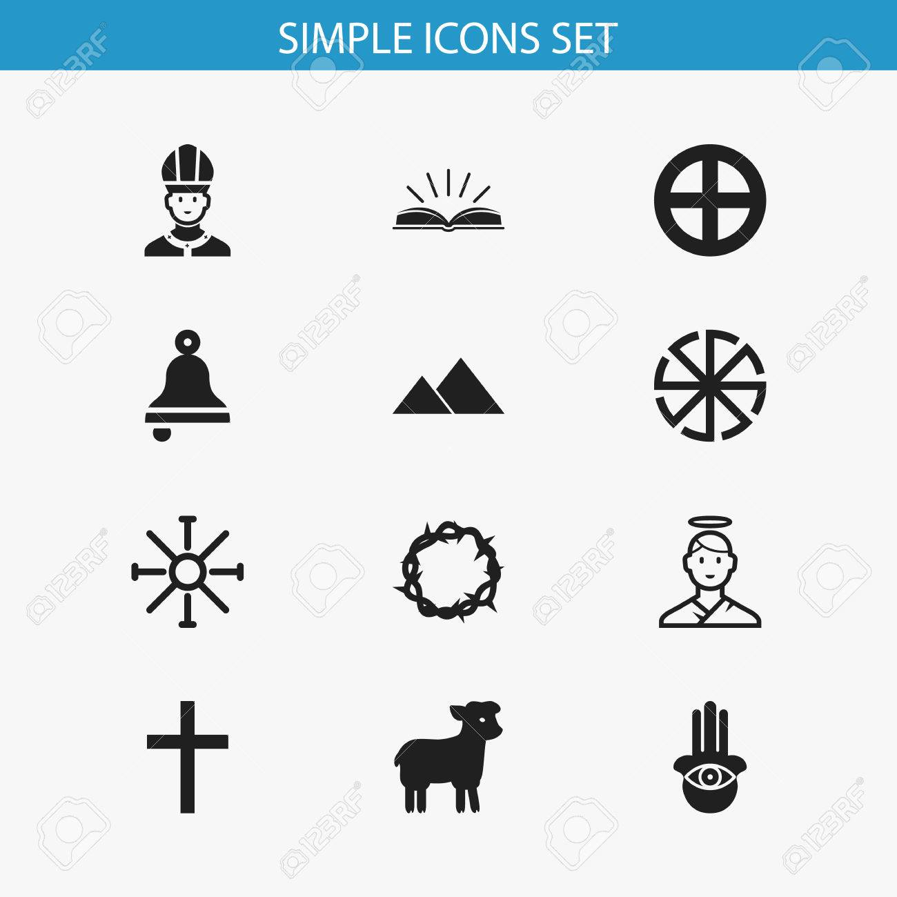 Set of 12 editable religion icons includes symbols such as solar set of 12 editable religion icons includes symbols such as solar emblem eye on biocorpaavc