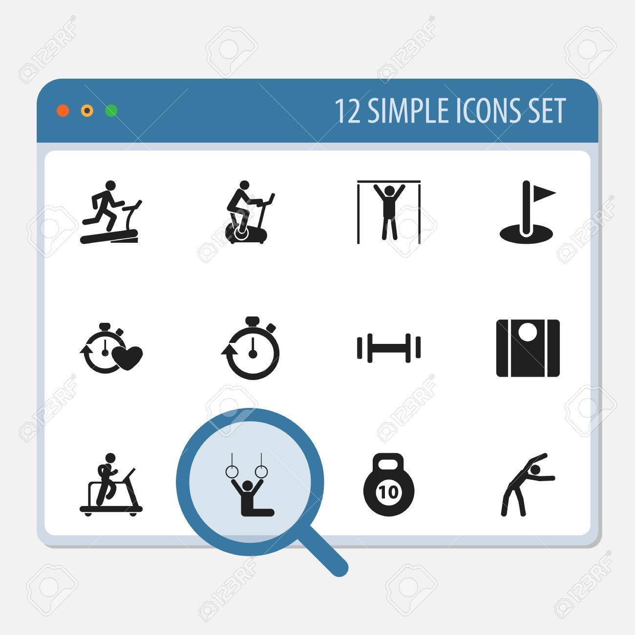 Set Of 12 Editable Lifestyle Icons. Includes Symbols Such As Racetrack Training, Balance, Jogging And More. Can Be Used For Web, Mobile, UI And Infographic Design. - 81609388