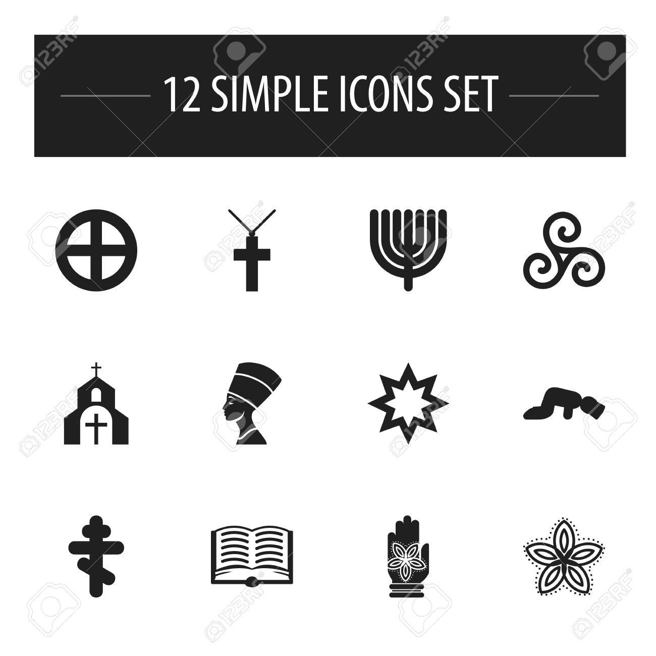 Set Of 12 Editable Faith Icons Includes Symbols Such As Indian Royalty Free Cliparts Vectors And Stock Illustration Image 81610443