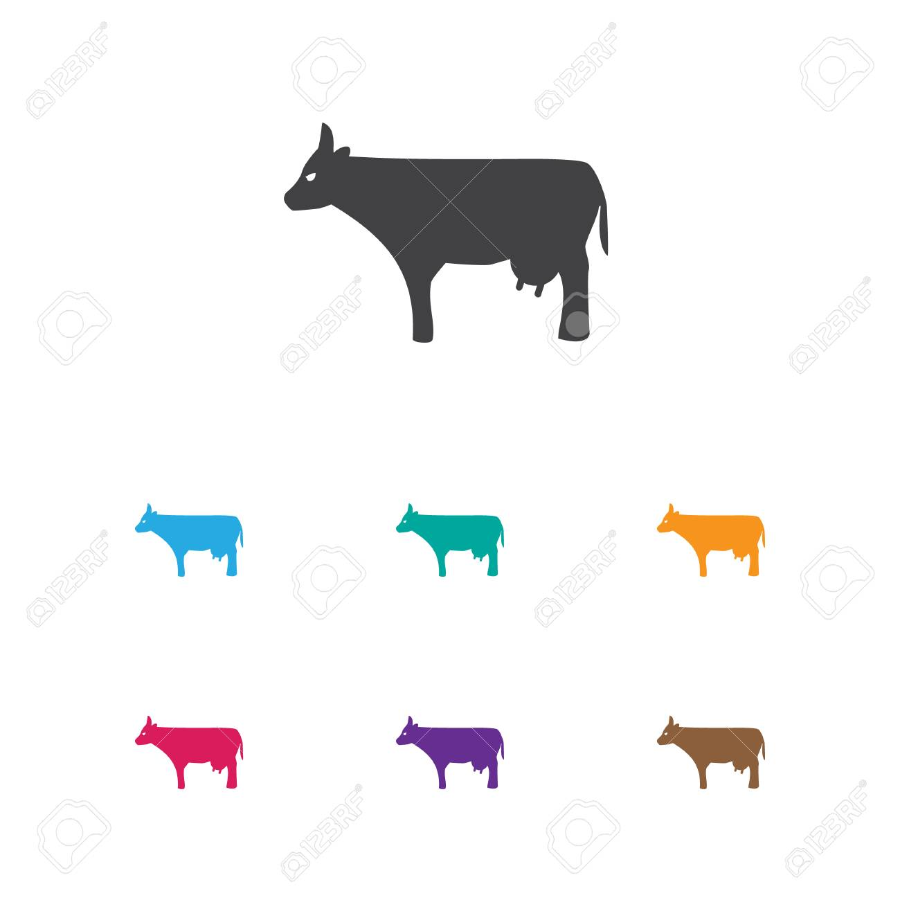 Vector illustration of zoology symbol on cow icon premium quality vector illustration of zoology symbol on cow icon premium quality isolated kine element in trendy buycottarizona