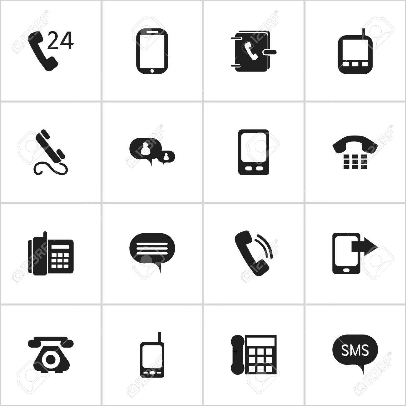 Set Of 16 Editable Device Icons Includes Symbols Such As Tablet