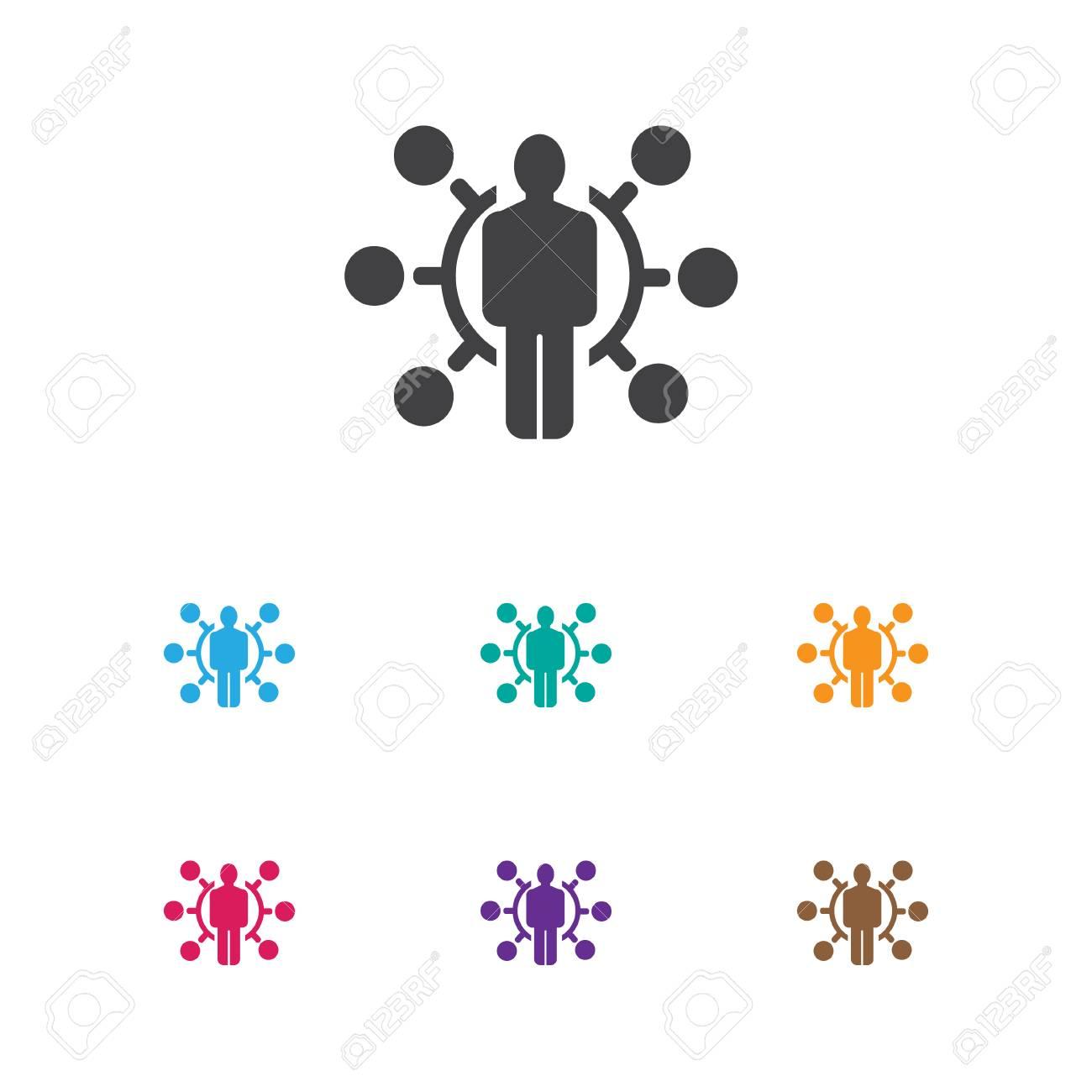 Ilustración Del Vector Del Símbolo Del Negocio En Icono De Las ...