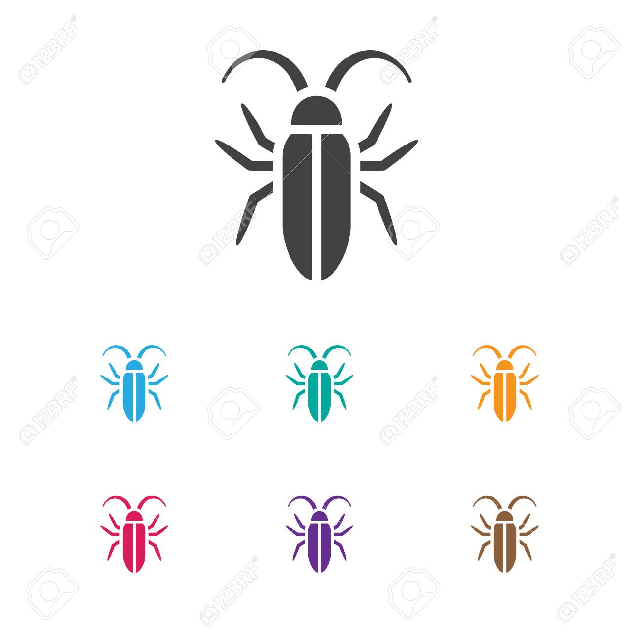 Vector Illustration Of Animal Symbol On Insect Icon Premium