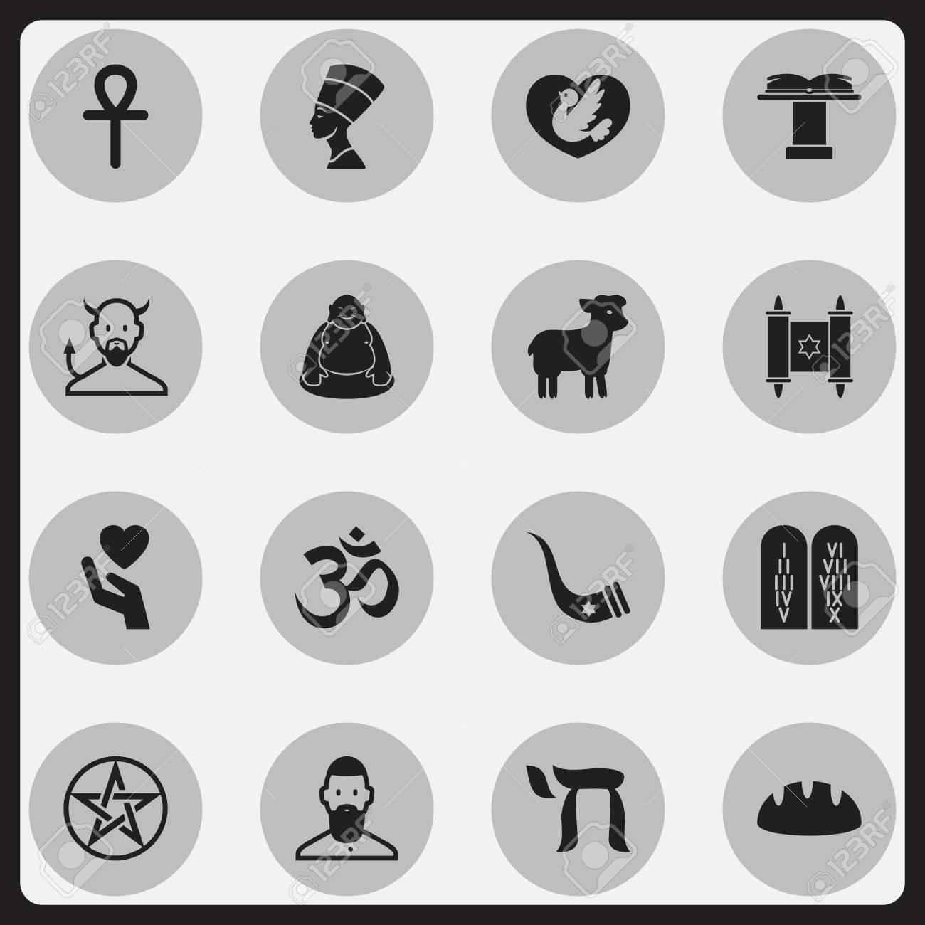 Set of 16 editable faith icons includes symbols such as religious includes symbols such as religious sign save love buycottarizona Images