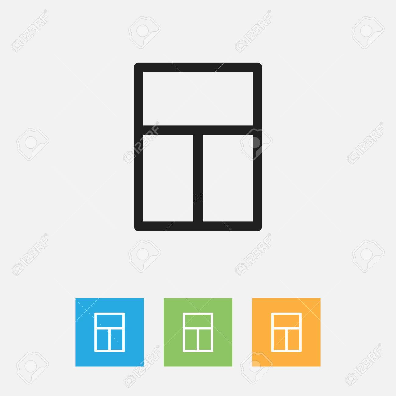 Vector Illustration Of Kin Symbol On Windows Outline