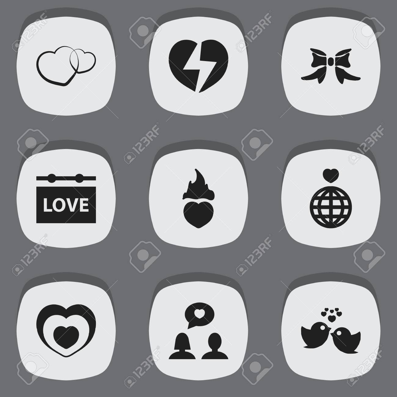 Set of 9 editable love icons includes symbols such as butterfly includes symbols such as butterfly world heartbeat biocorpaavc Images