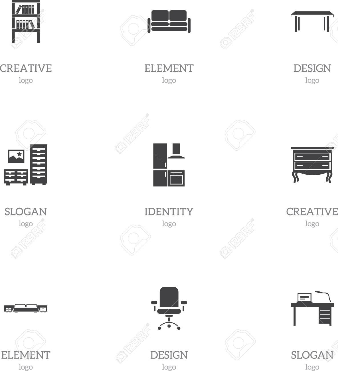 Inspiration Cuisine En U set of 9 editable interior icons. includes symbols such as interior,..