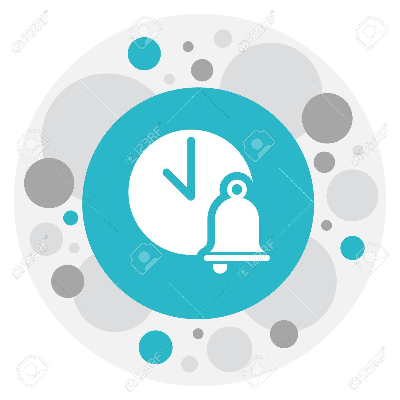 Vector Illustration Of Science Symbol On Ring Buzzer Icon Royalty ...