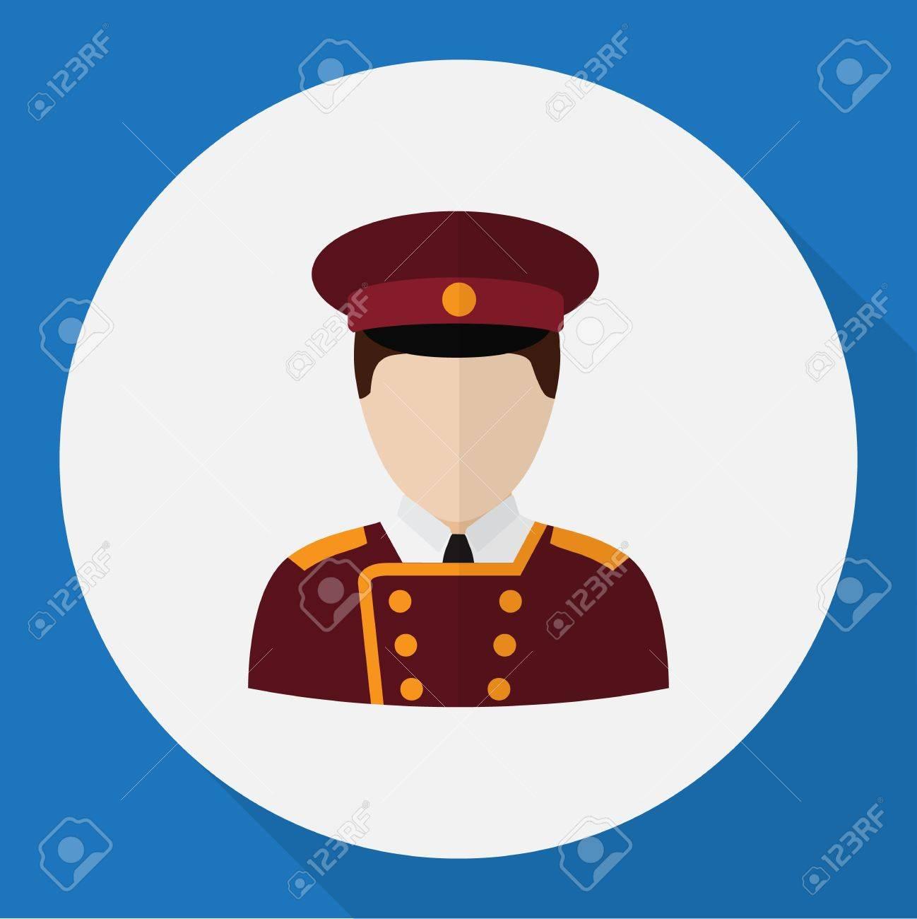 Vector Illustration Of Job Symbol On Porter Flat Icon. Premium Quality Isolated Doorman Element In Trendy Flat Style. - 82873550