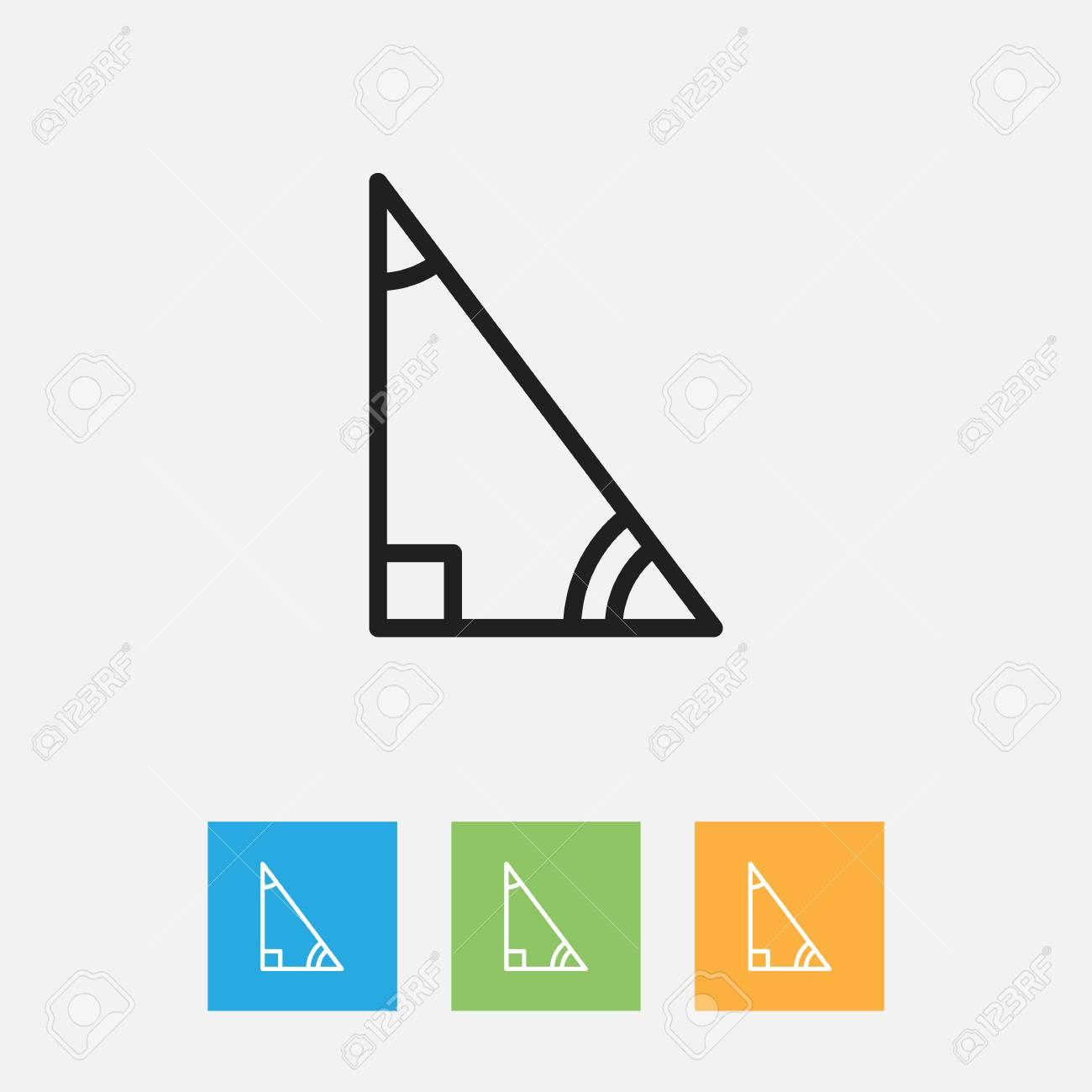 Vector Illustration Of Teach Symbol On Delta Outline Royalty Free