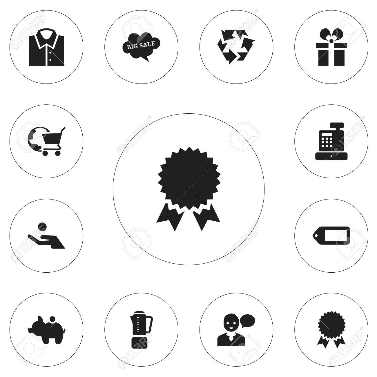 Set Of 12 Editable Trade Icons Includes Symbols Such As Cloud