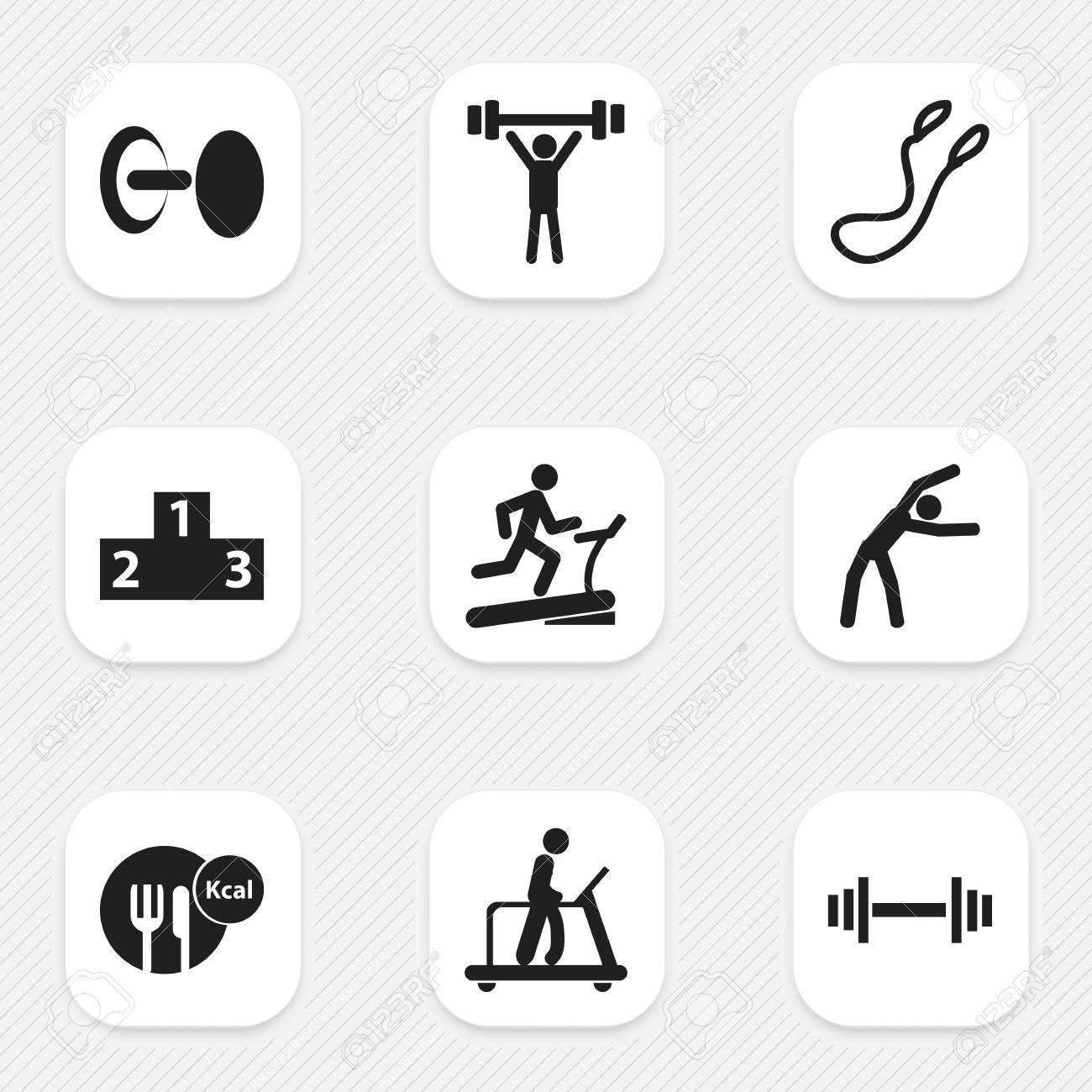 Set of 9 editable sport icons includes symbols such as executing set of 9 editable sport icons includes symbols such as executing running healthy food biocorpaavc