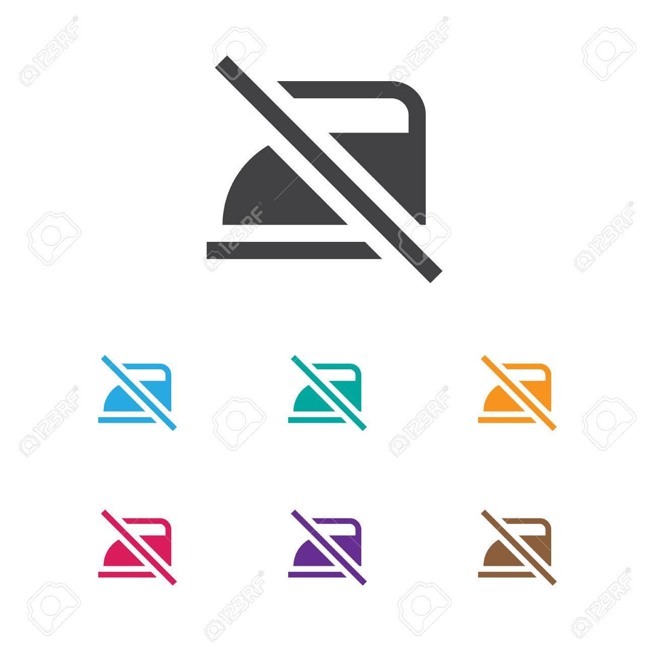 Vector Illustration Of Hygiene Symbol On Do Not Iron Icon Royalty