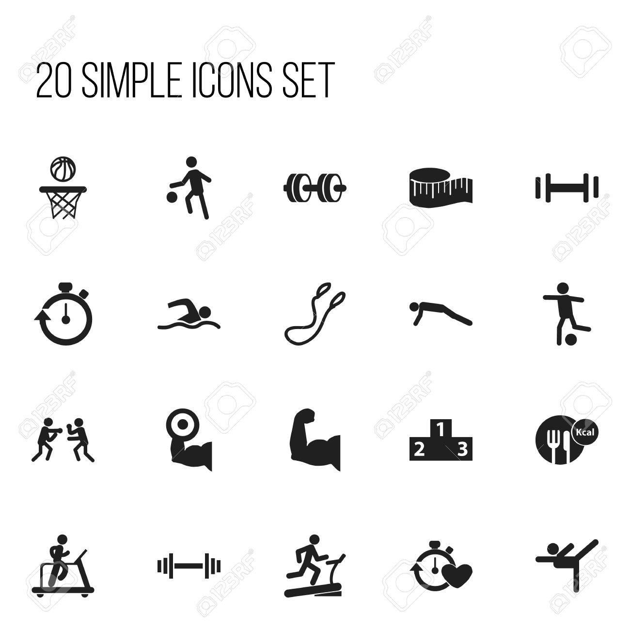 Set of 20 editable sport icons includes symbols such as jogging set of 20 editable sport icons includes symbols such as jogging acrobatics biceps biocorpaavc