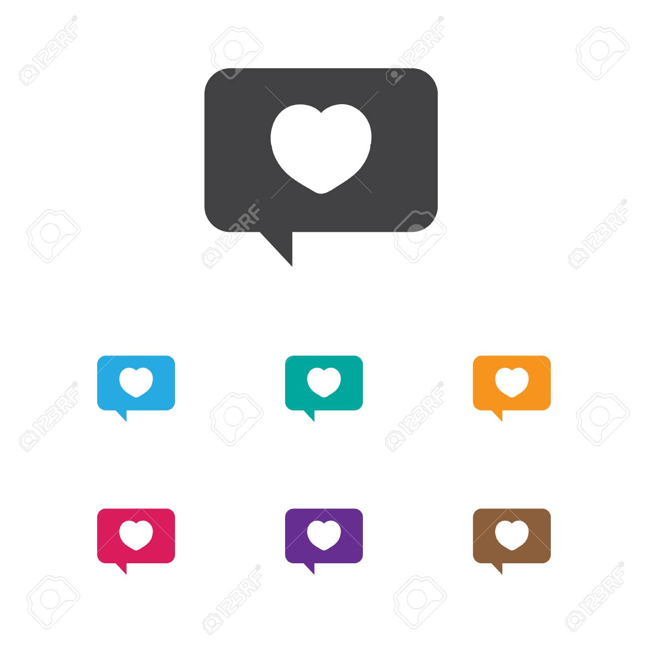 Vector Illustration Of Passion Symbol On Affection Mail Icon Royalty