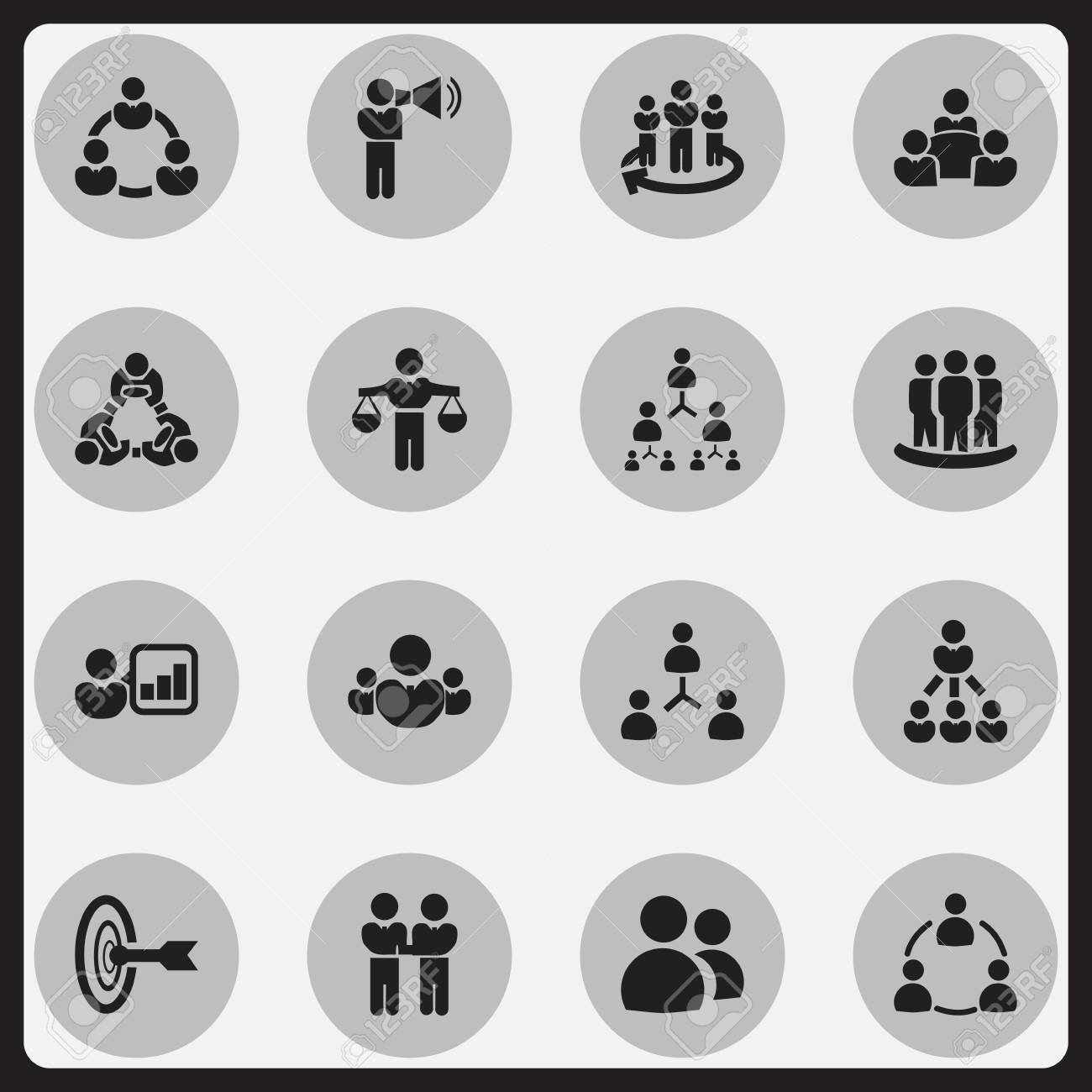 Set Of 16 Editable Cooperation Icons Includes Symbols Such As
