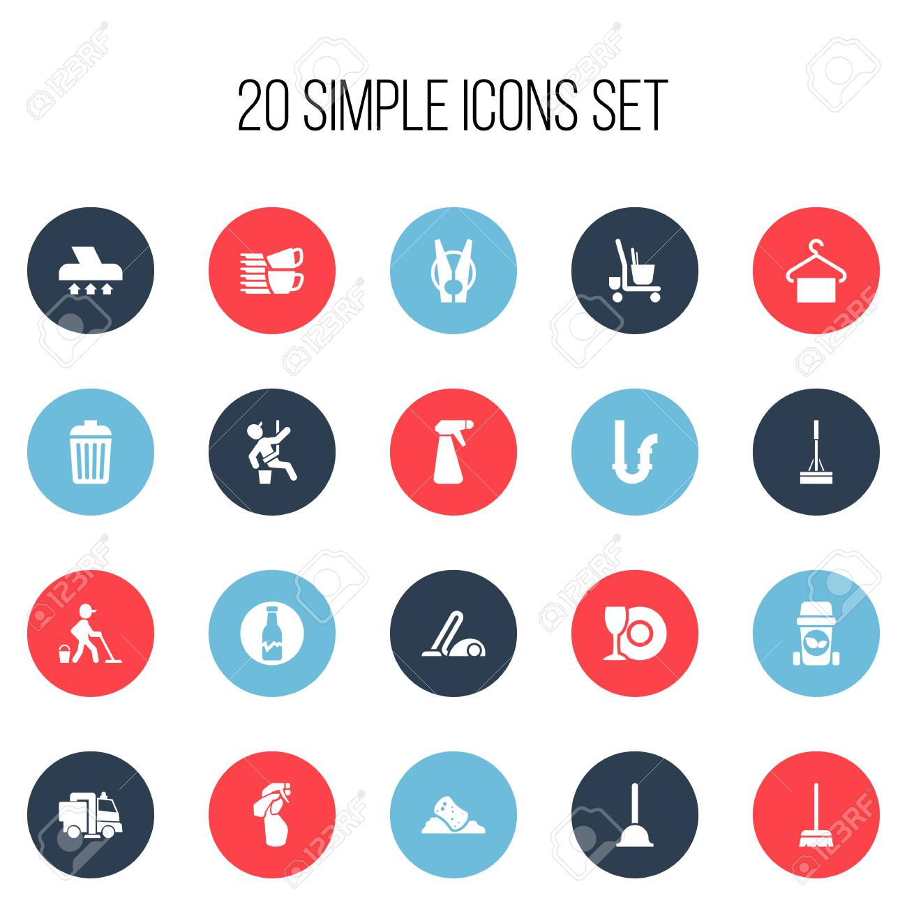Set Of 20 Editable Hygiene Icons Includes Symbols Such As