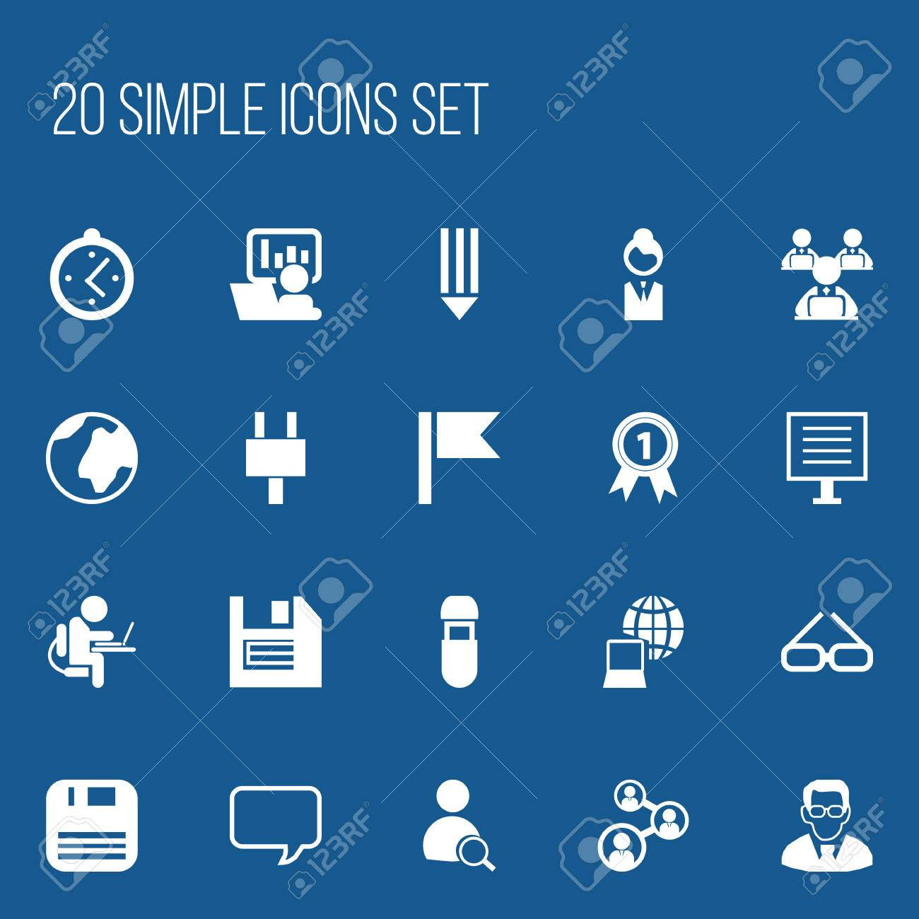 Set Of 20 Editable Bureau Icons Includes Symbols Such As World