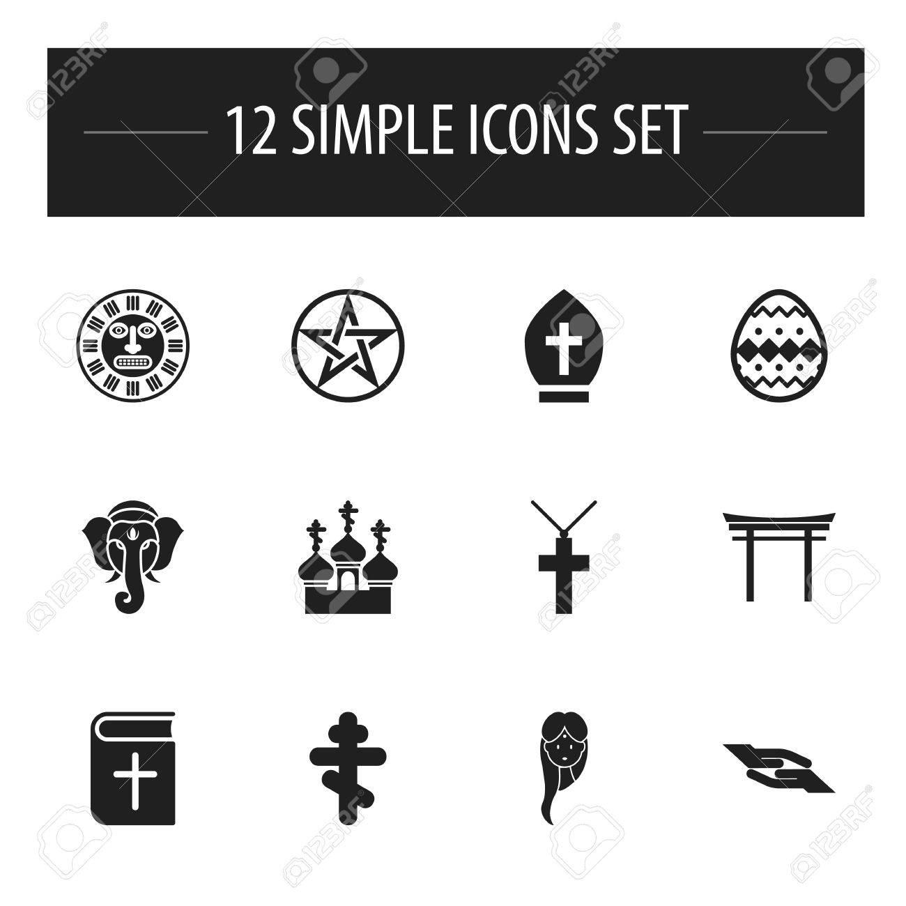 Svært Set Of 12 Editable Dyne Icons. Includes Symbols Such As Christian KO-92