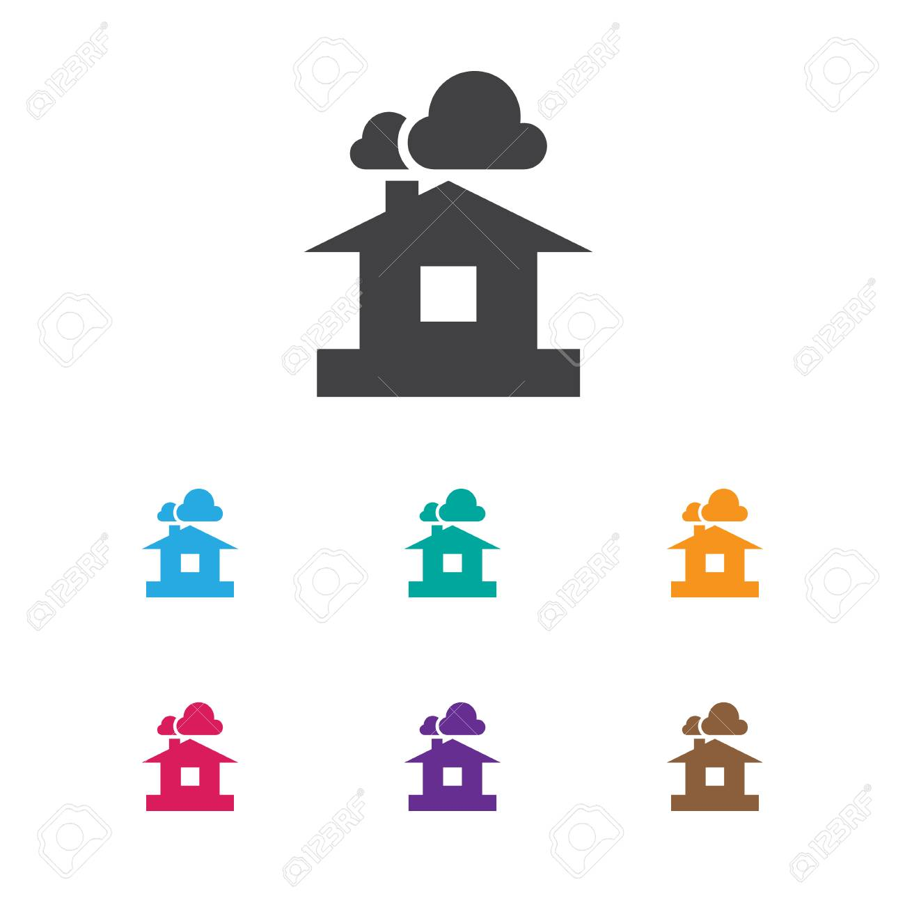 Vector Illustration Of Air Symbol On Shelter Icon. Premium Quality..