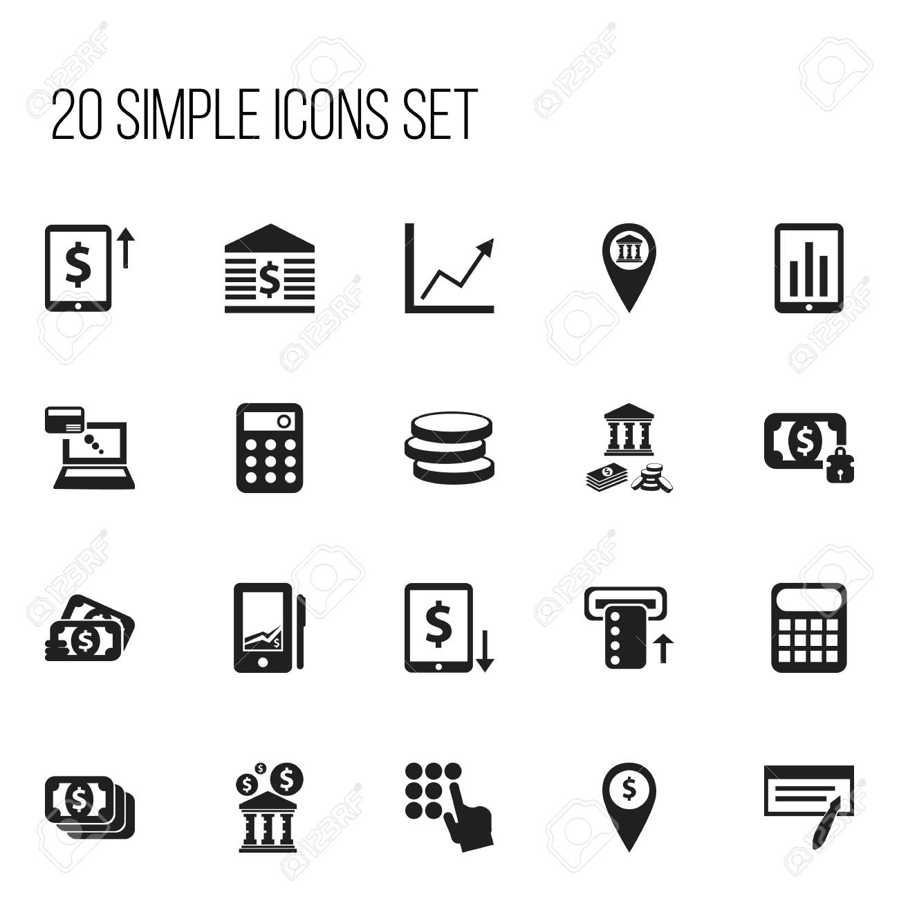Set of 20 editable finance icons includes symbols such as diagram set of 20 editable finance icons includes symbols such as diagram pinpoint library ccuart Choice Image