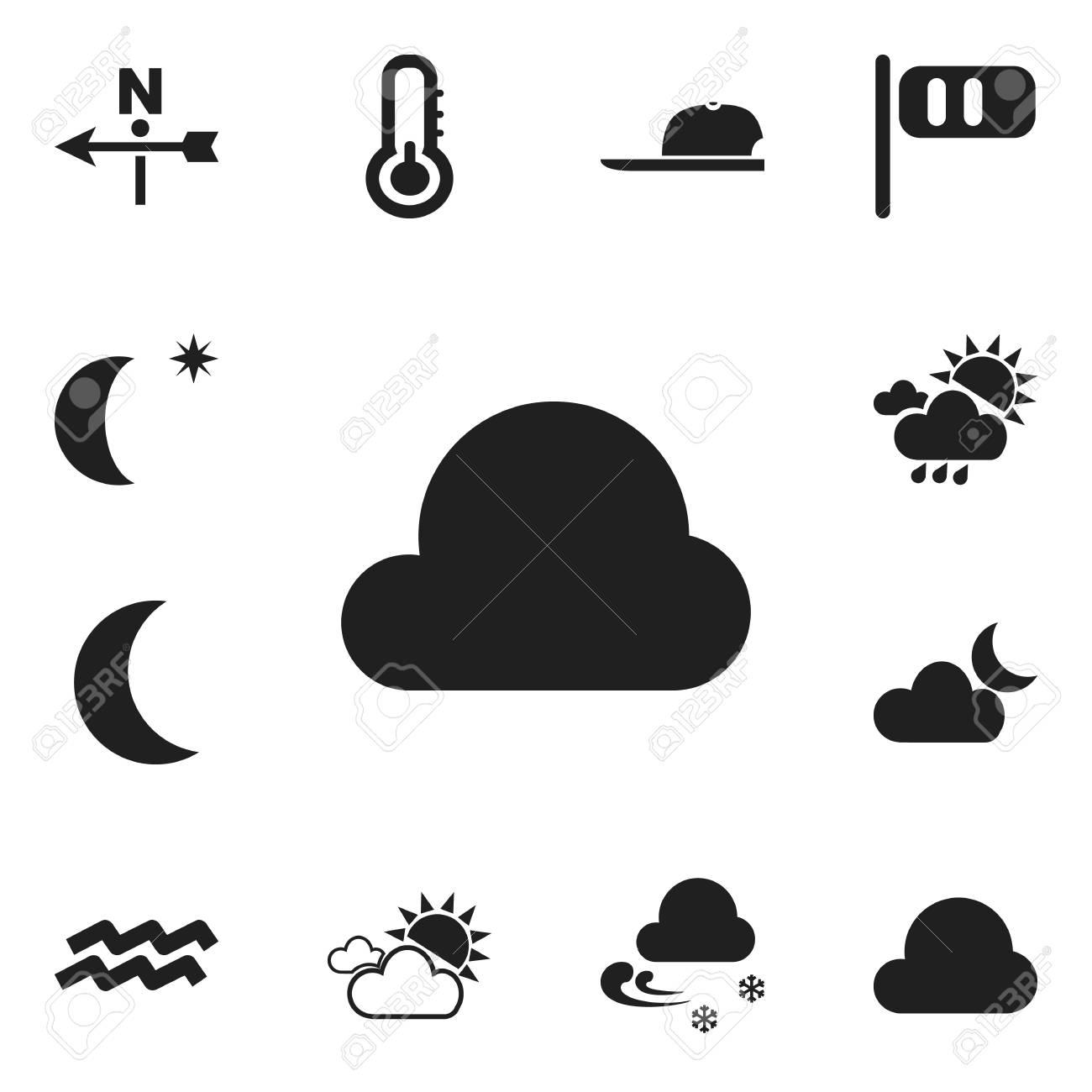 Set Of 12 Editable Air Icons. Includes Symbols Such As Overcast ... 679e4ece4e2