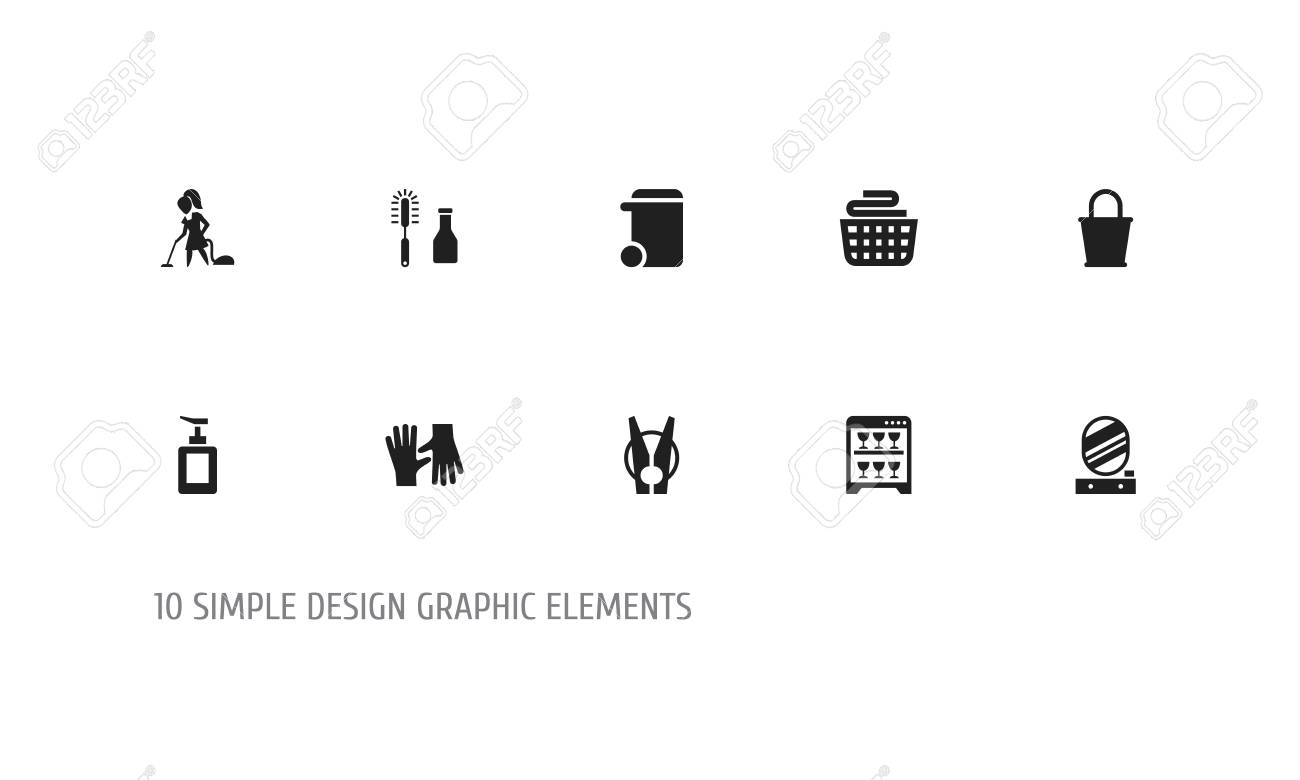 set of 10 editable cleanup icons includes symbols such as clean