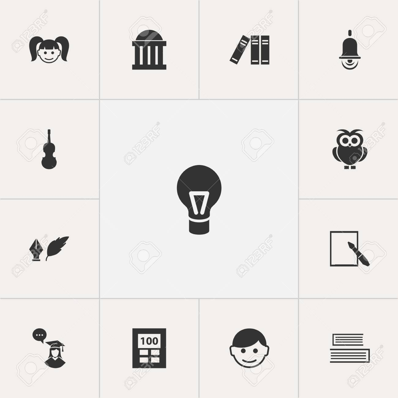Set Of 13 Editable Science Icons Includes Symbols Such As