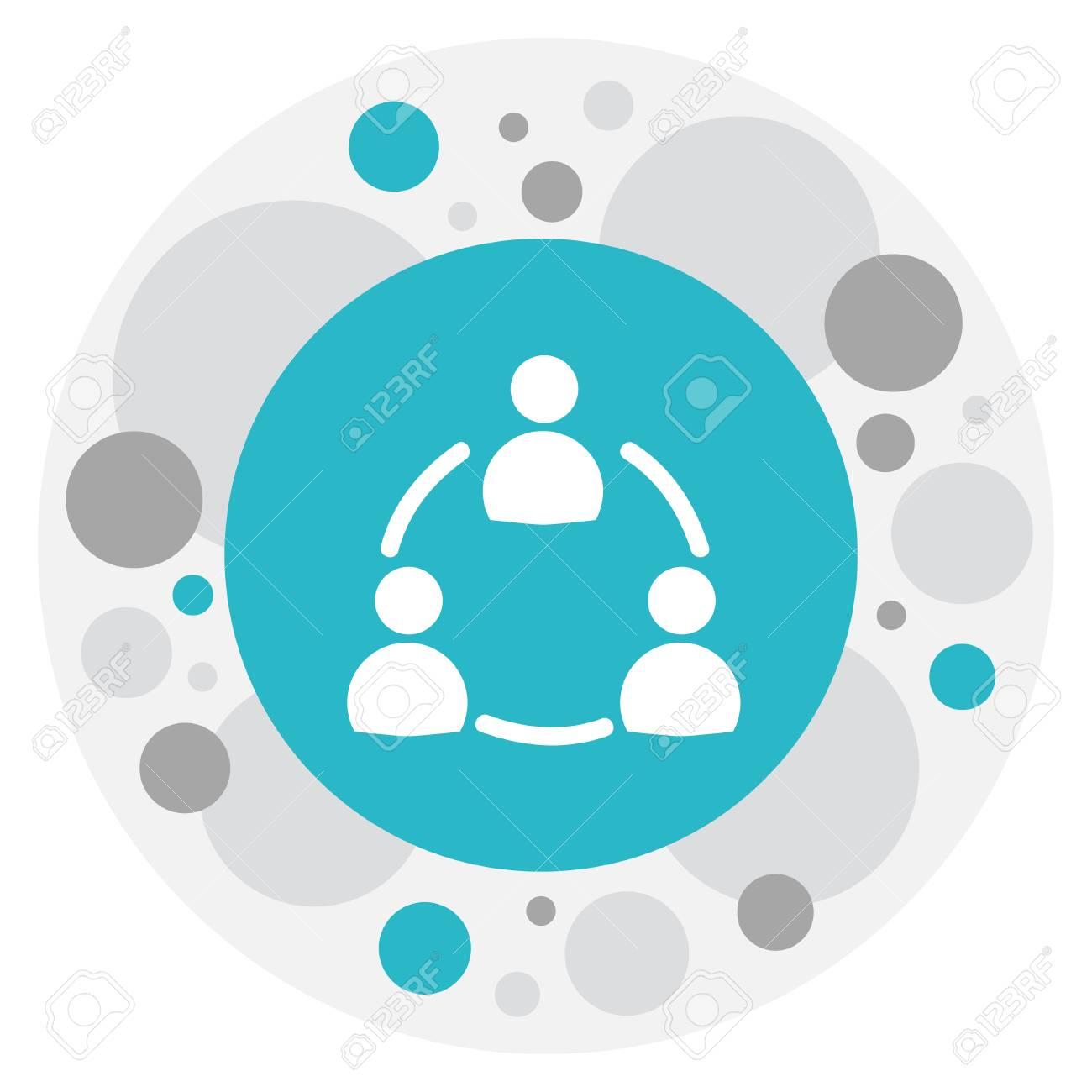 Illustration Of Unity Symbol On Staff Structure Icon. - 88787116