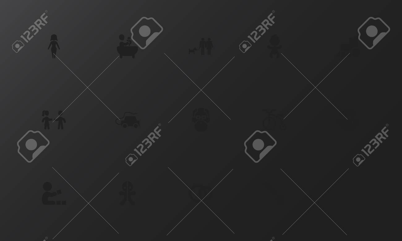 Set of 15 editable folks icons  Includes symbols such as automobile,